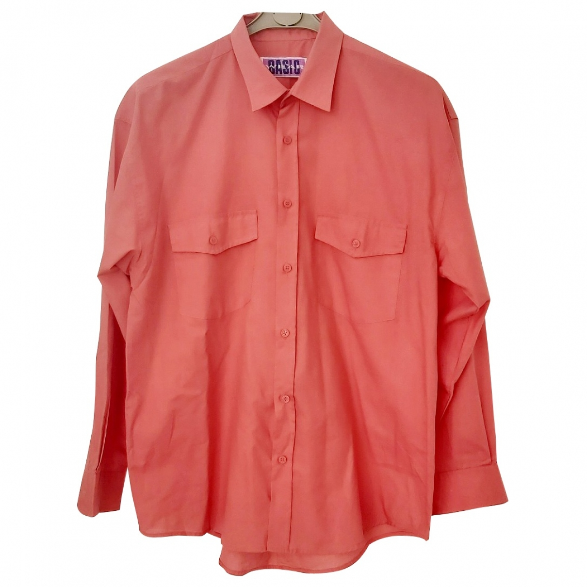 Non Signé / Unsigned Oversize Pink Cotton Shirts for Men XL International