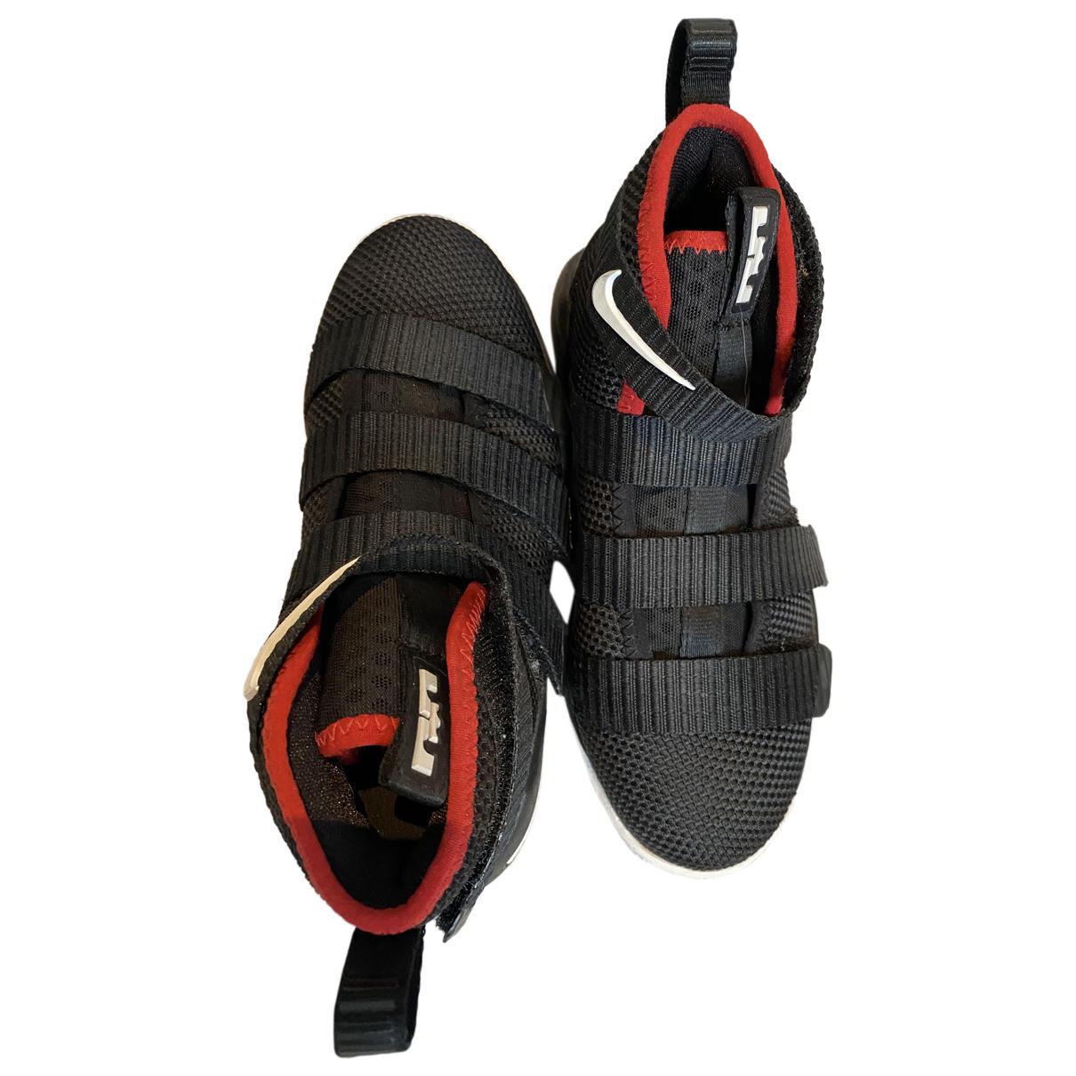 Nike N Black Cloth Trainers for Kids 11.5 UK