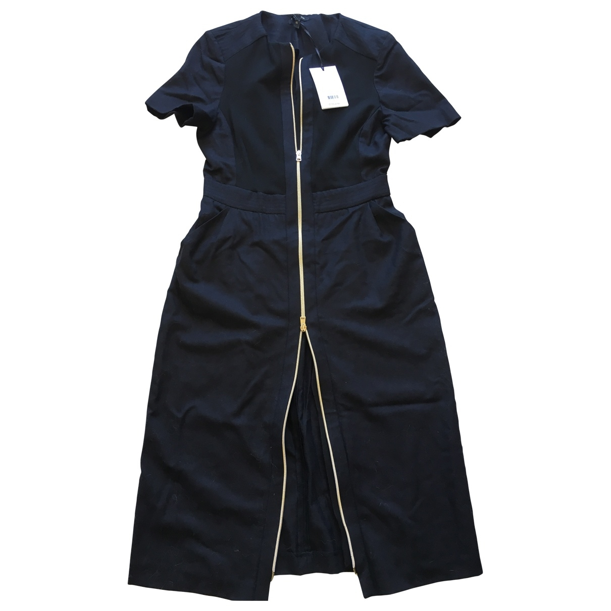 Tara Jarmon \N Navy Wool dress for Women 38 FR
