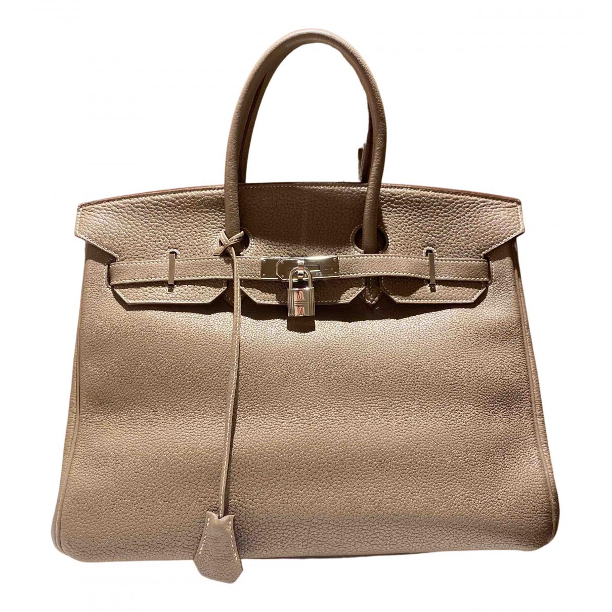 Hermès Birkin 35 Grey Leather handbag for Women N