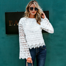 Bell Sleeve Guipure Lace Top