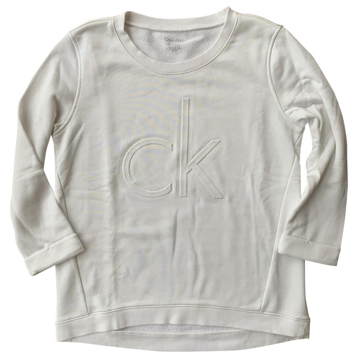 Calvin Klein \N Pullover in  Weiss Baumwolle
