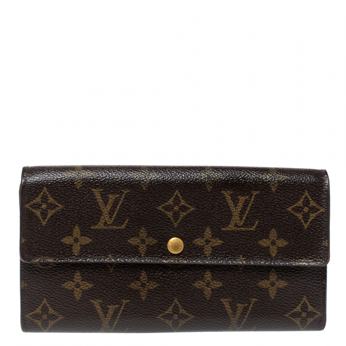 Louis Vuitton \N Portemonnaie in  Braun Leder