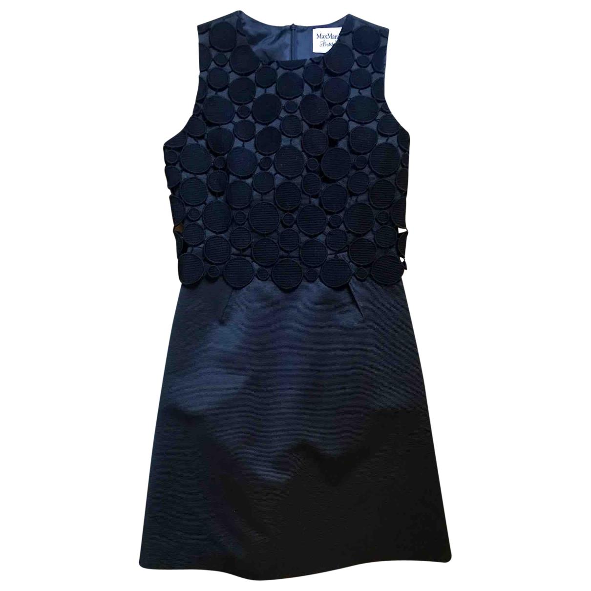 Max Mara \N Kleid in  Schwarz Baumwolle