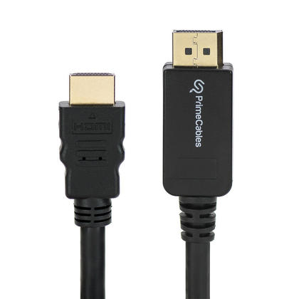 PrimeCables® DisplayPort to HDMI Adapter Cable M/M 10ft, Black