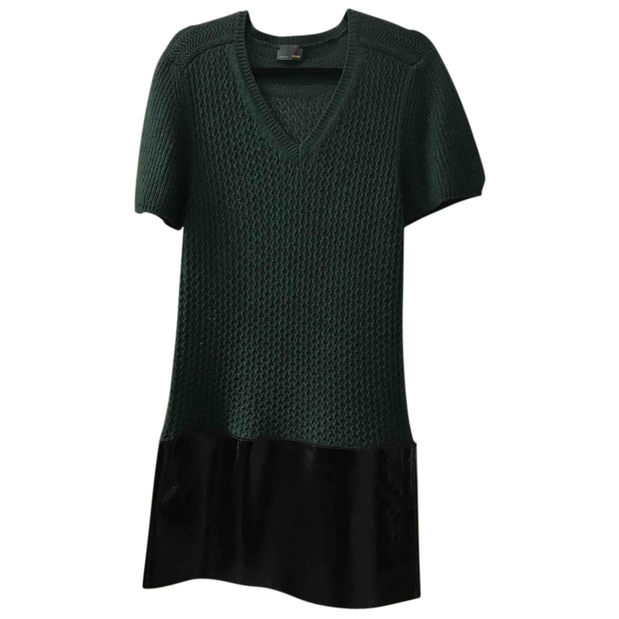 Fendi - Robe   pour femme en cachemire - vert