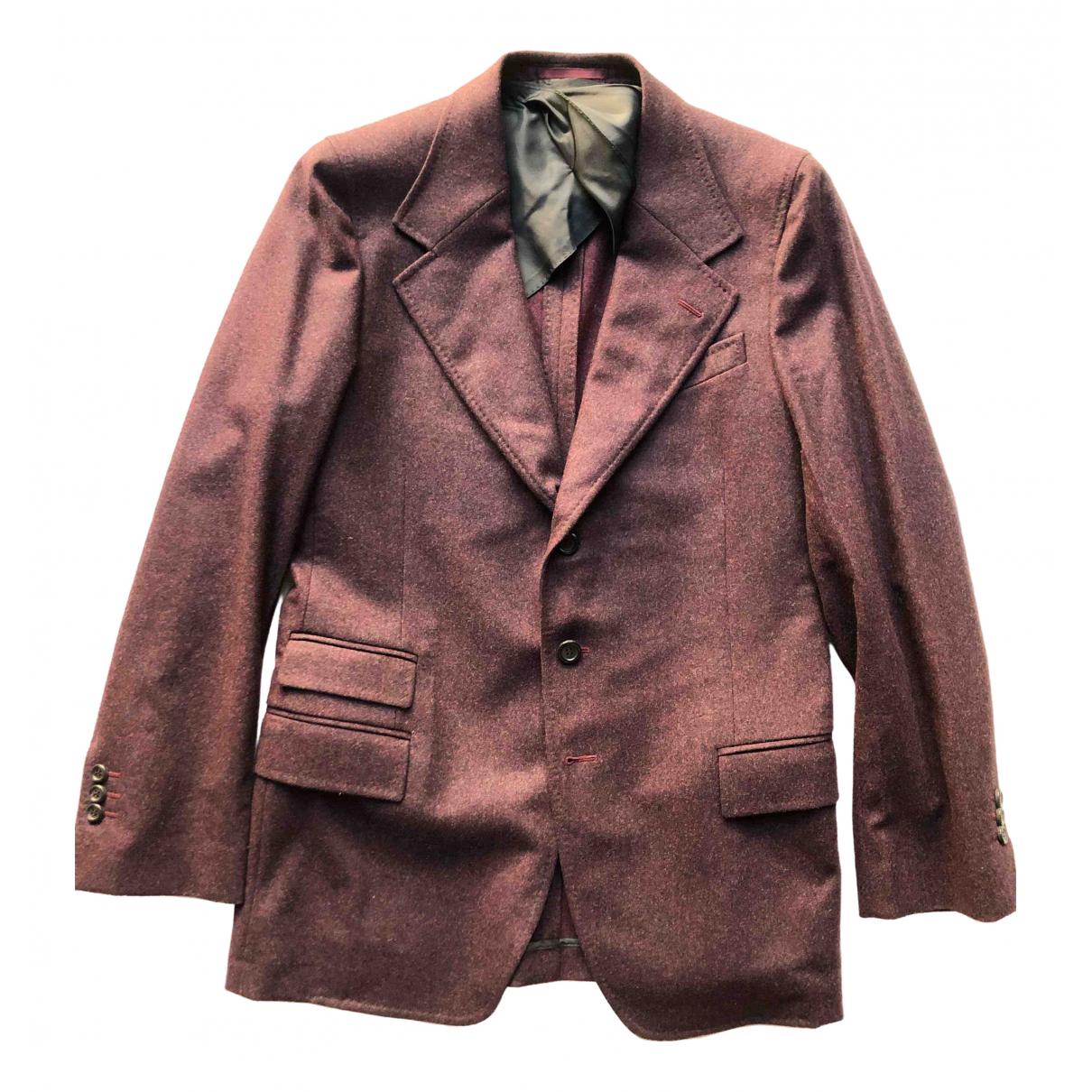 Yves Saint Laurent - Vestes.Blousons   pour homme en laine - bordeaux