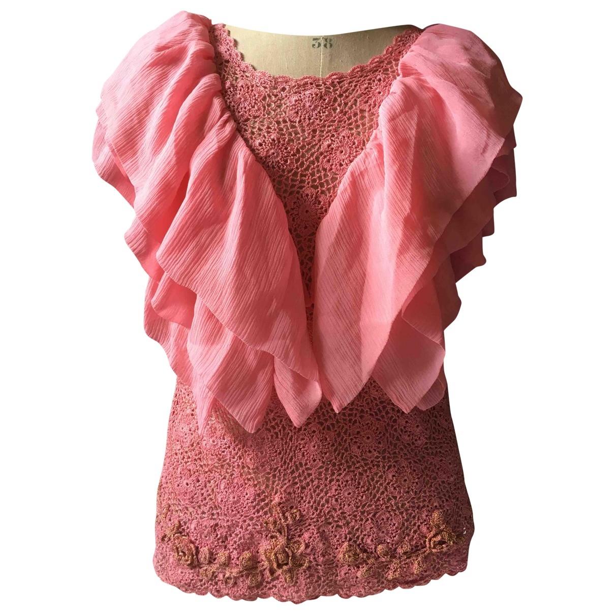 Manoush - Top   pour femme en coton - rose