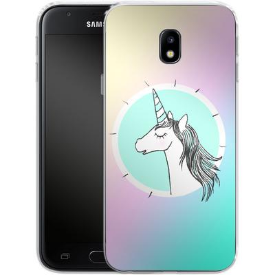 Samsung Galaxy J3 (2017) Silikon Handyhuelle - Happiness Unicorn von caseable Designs