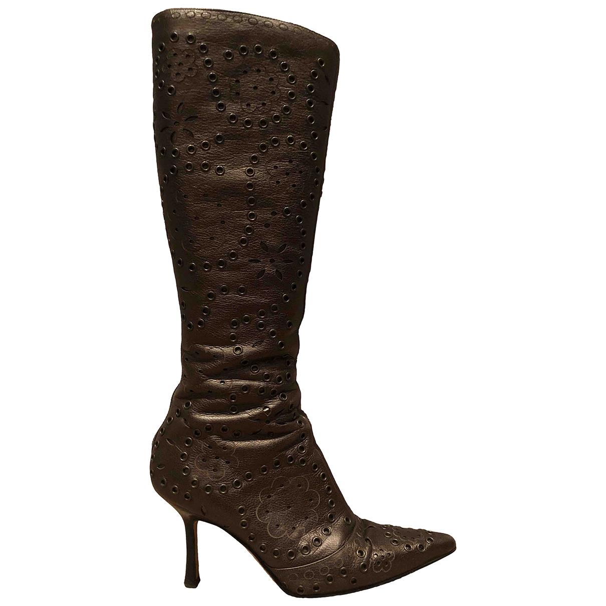 Jimmy Choo N Metallic Leather Boots for Women 38 EU