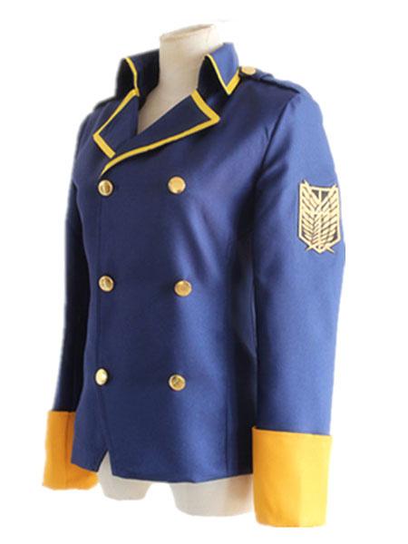 Milanoo Attack On Titan Shingeki No Kyojin Eren Jaeger Cosplay Costume The Last Wings Of Mankind Blue Jacket Suit