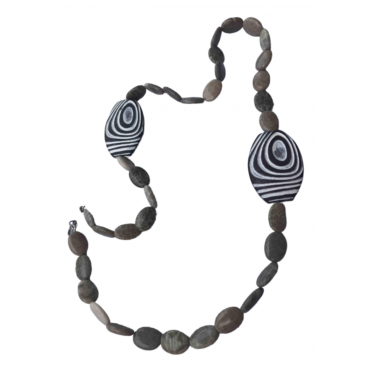 Non Signé / Unsigned Corail Beige Metal necklace for Women \N