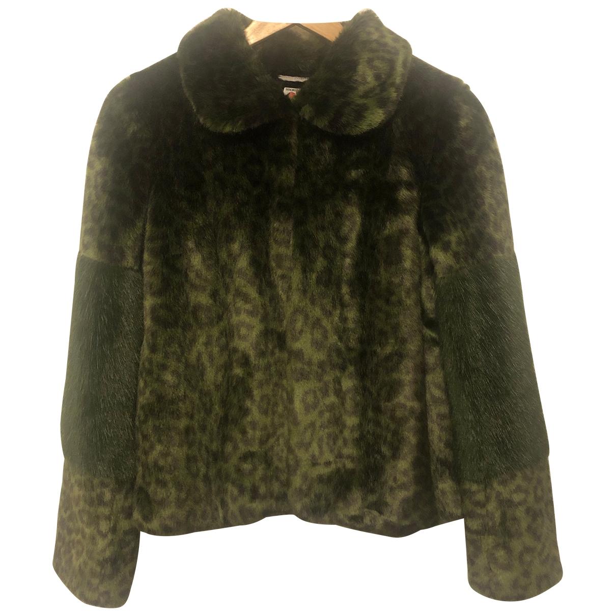 Shrimps - Manteau   pour femme en fourrure synthetique - vert