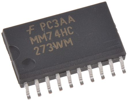 ON Semiconductor MM74HC273WMX Octal D Type Flip Flop IC, LSTTL, 20-Pin SOIC (10)