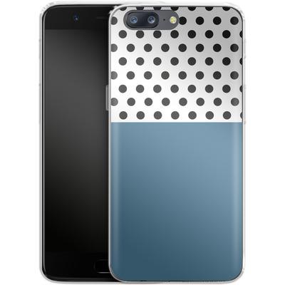 OnePlus 5 Silikon Handyhuelle - Blue Dots von caseable Designs