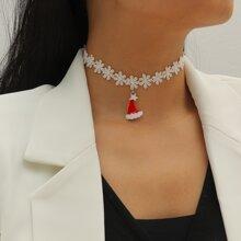 Halsband mit Weihnachten Hut Dekor
