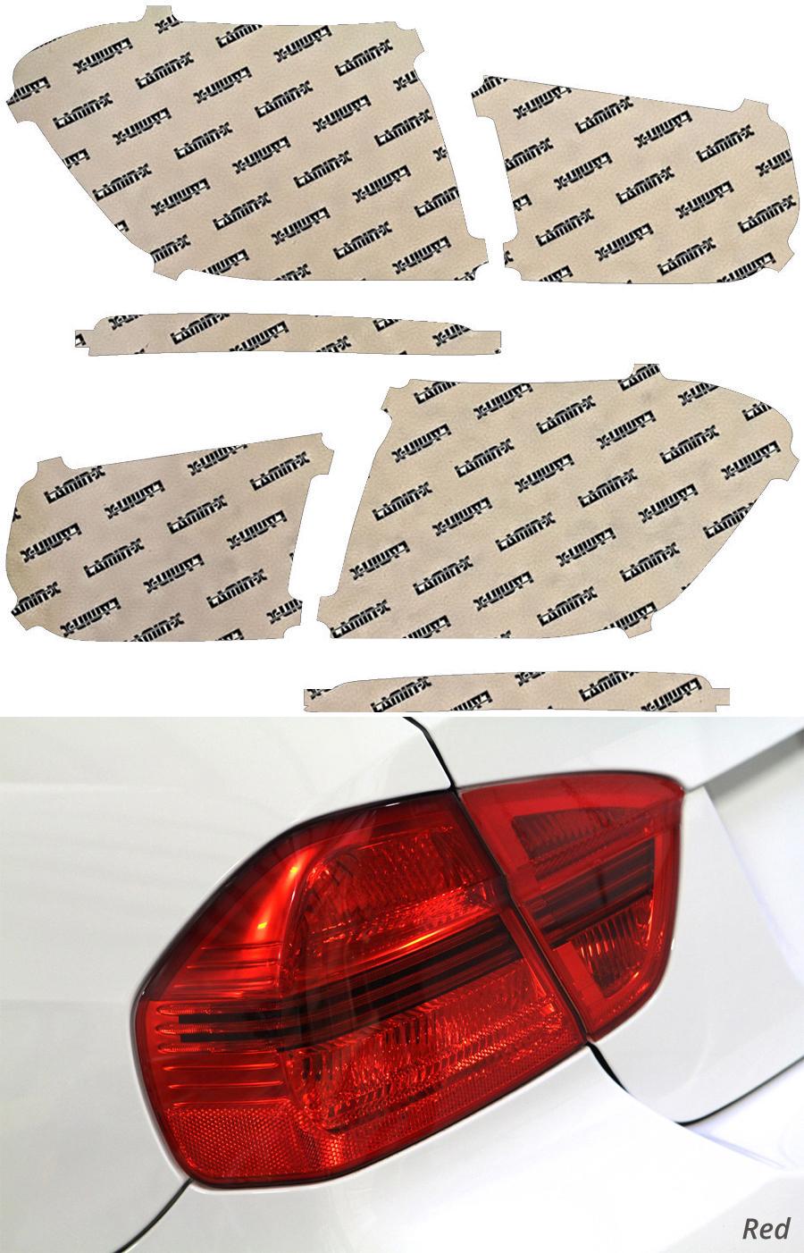 BMW 5-Series 17-19 Red Tail Light Covers Lamin-X B261R