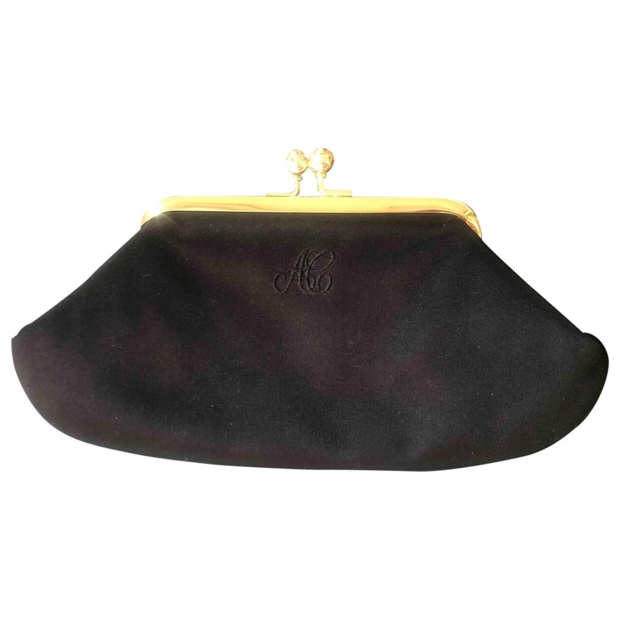 Anya Hindmarch - Pochette   pour femme en soie - noir
