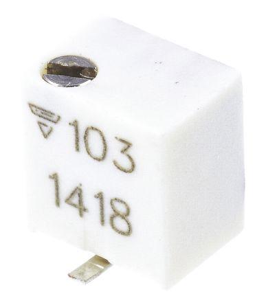 Vishay 10kΩ, SMD Trimmer Potentiometer 1/4W Top Adjust , TSM4 (5)