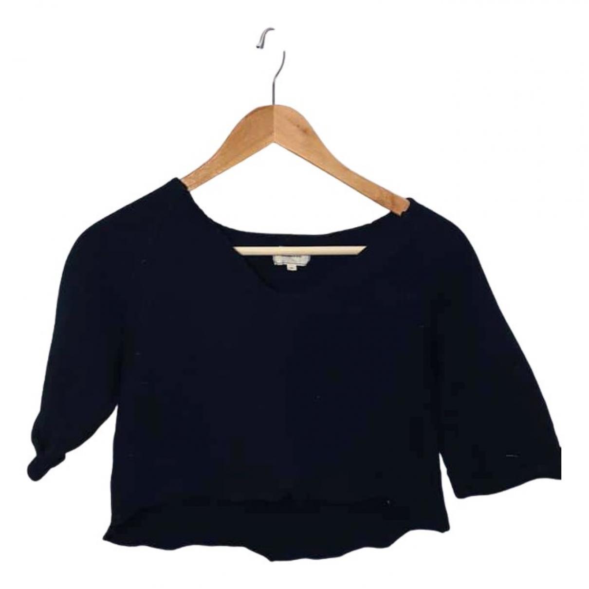 American Retro - Top   pour femme en laine - noir