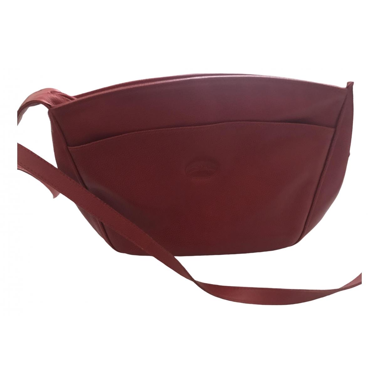 Longchamp 3D Handtasche in  Rot Lackleder