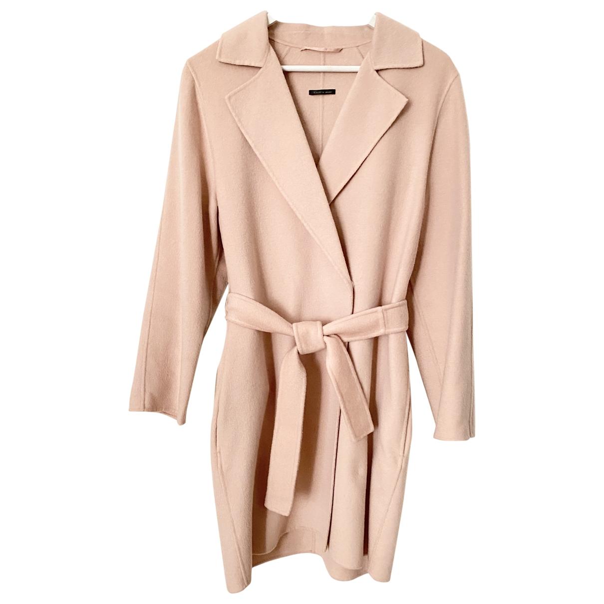 Max Mara \N Pink Wool coat for Women 40 FR