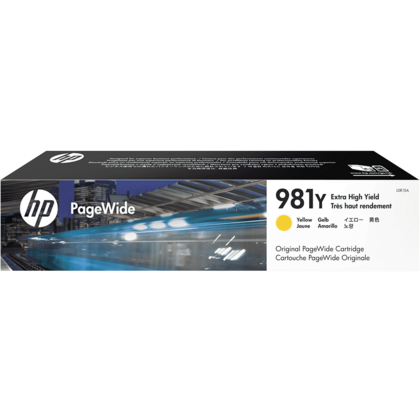 HP 981Y L0R15A Original Yellow PageWide Ink Cartridge Extra High Yield