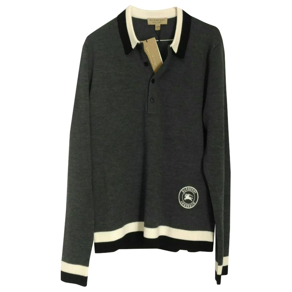 Polo en Algodon Gris Burberry