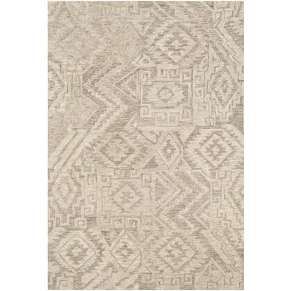 Newcastle NCS-2303 4' x 6' Rectangle Global Rug in Camel  Taupe