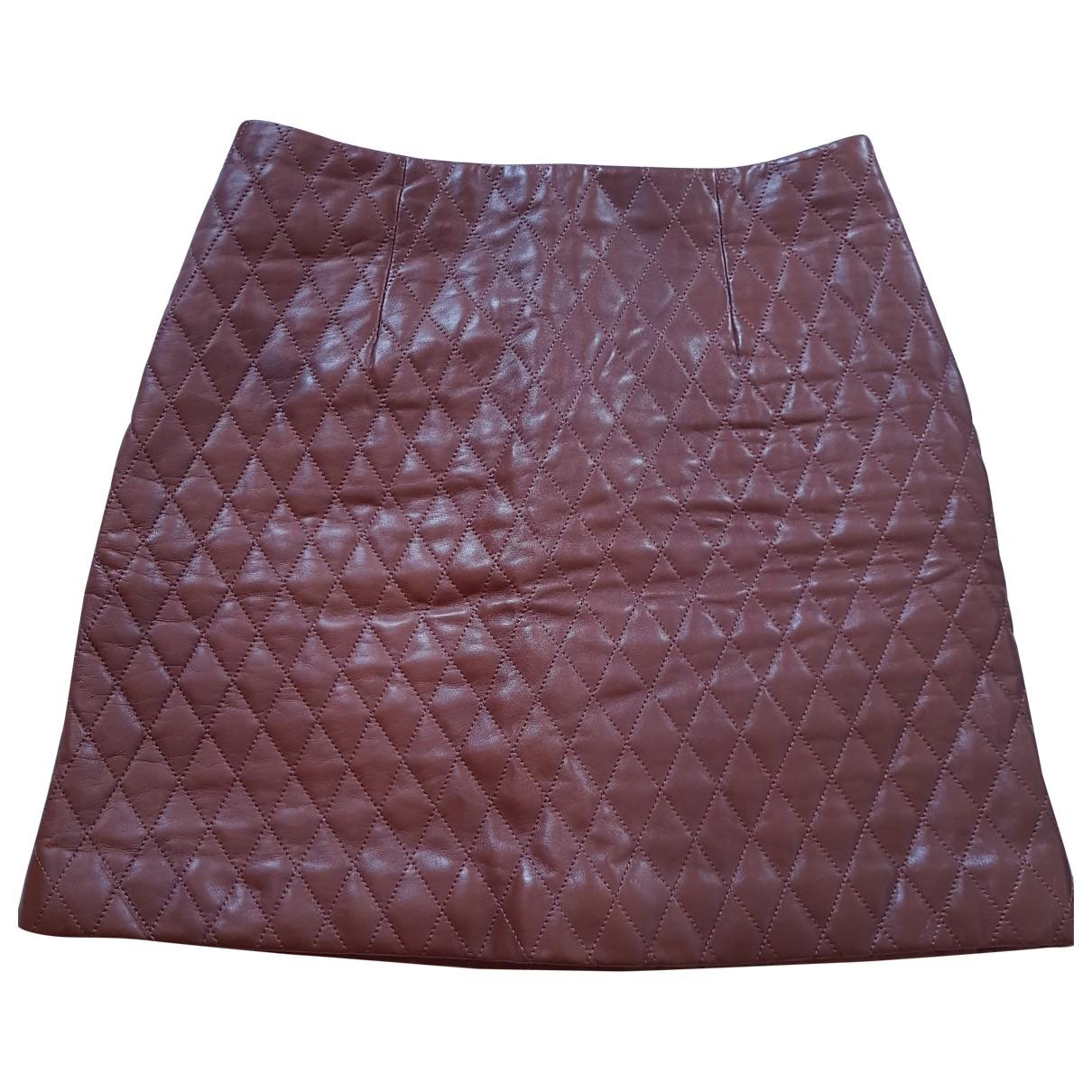 Falda de Cuero Paule Ka