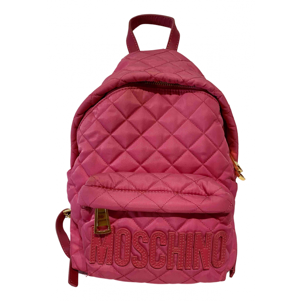 Moschino \N Pink Cloth backpack for Women \N