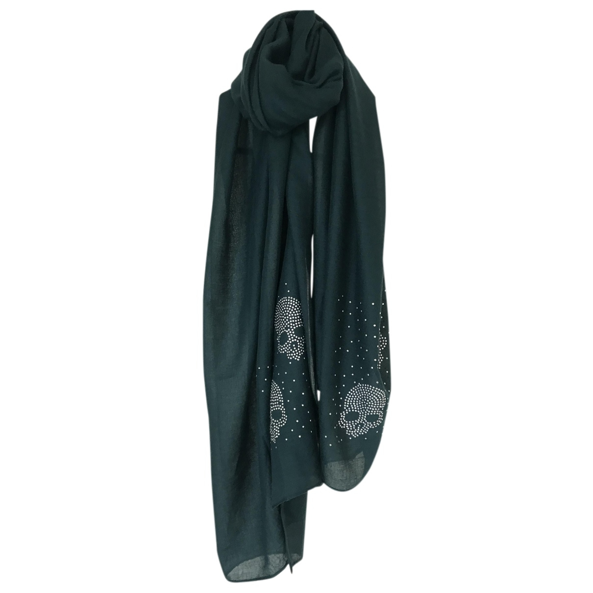 Non Signé / Unsigned N Green Cotton scarf for Women N