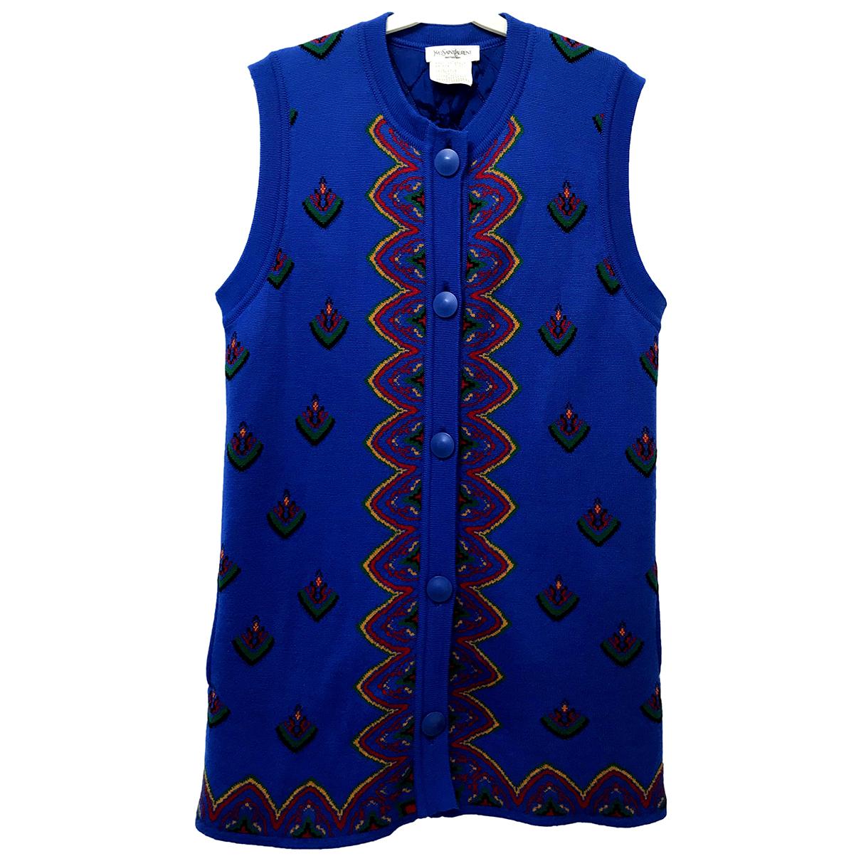 Yves Saint Laurent \N Blue Wool jacket for Women M International