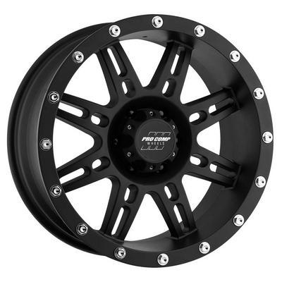 Pro Comp 31 Series Stryker, 17x8 Wheel with 6 on 5.5 Bolt Pattern - Matte Black - 7031-788352