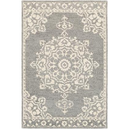 Granada GND-2310 6' x 9' Rectangle Traditional Rug in Medium Gray  Beige