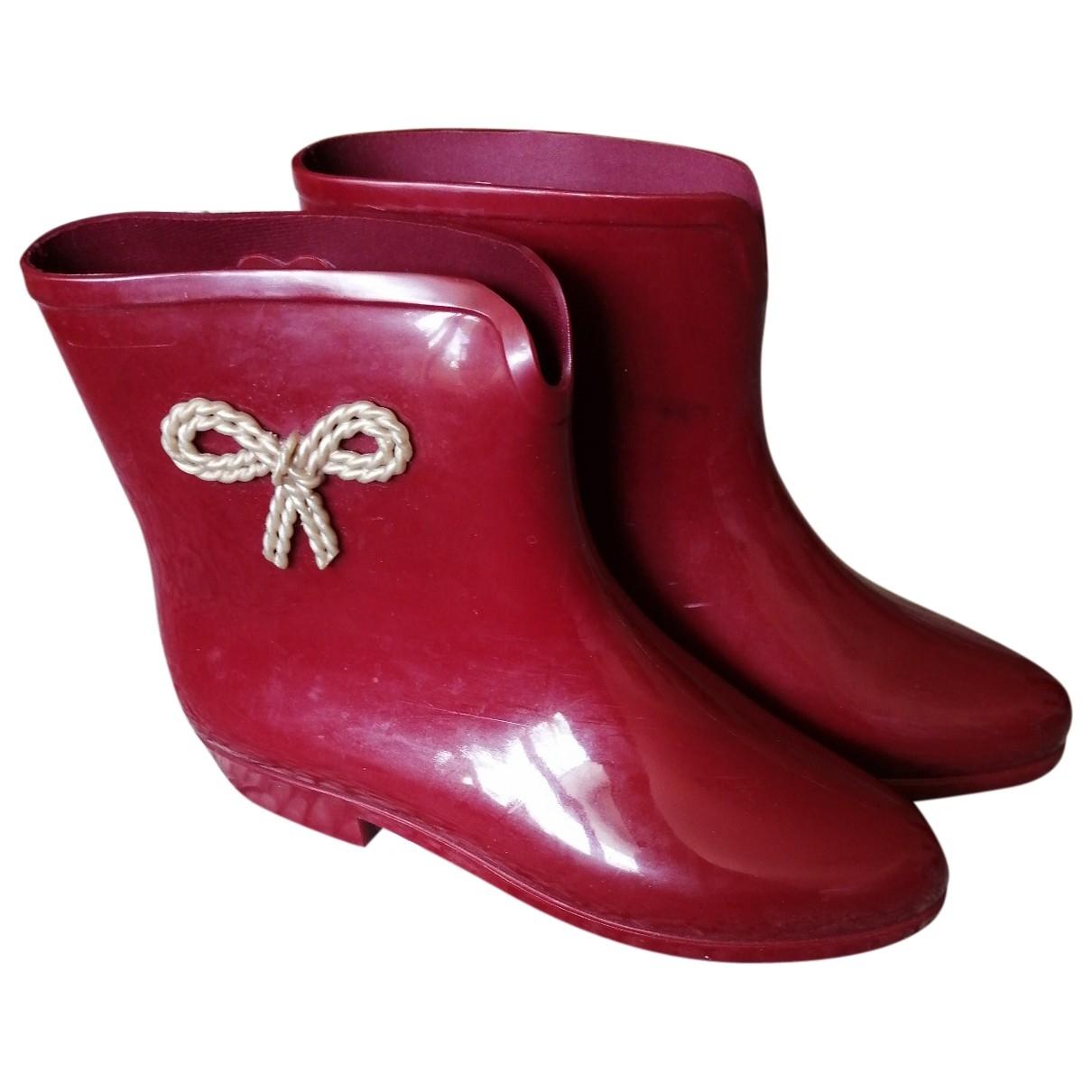 - Boots Hippie Chic pour femme - rouge