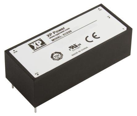 XP Power , 60W AC-DC Converter, 15V dc, Encapsulated