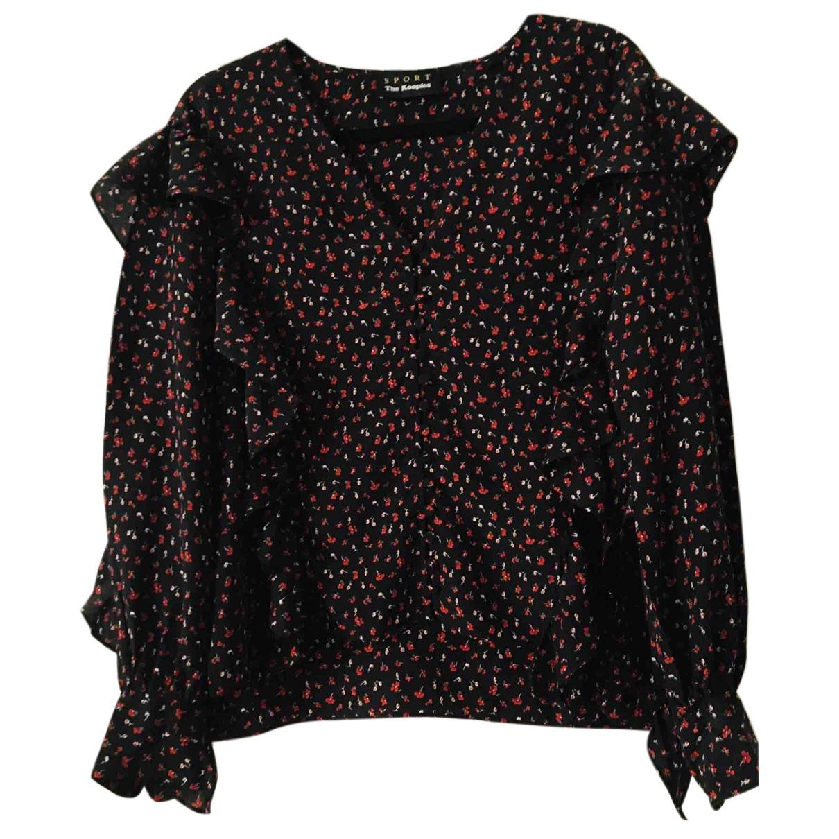 The Kooples N Black Silk  top for Women 36 FR