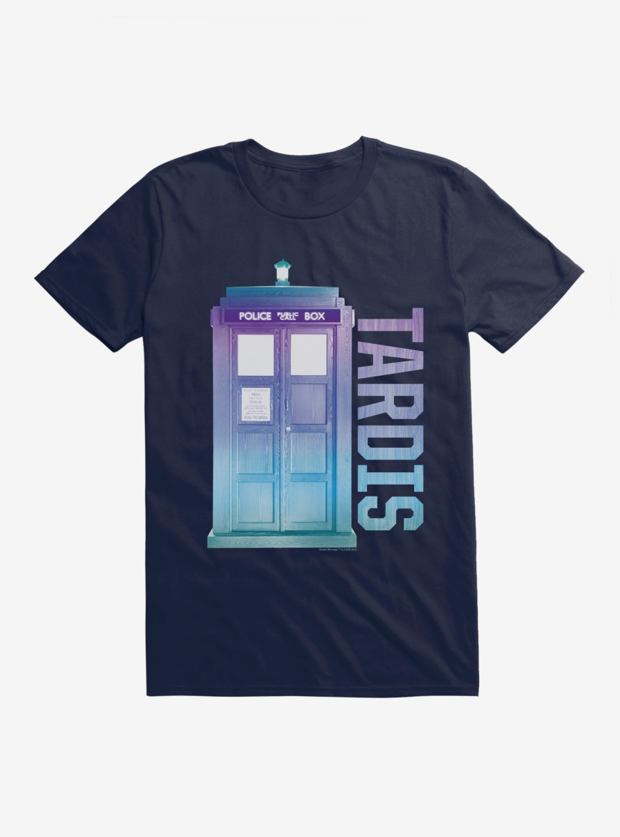 Doctor Who TARDIS Pastel Script T-Shirt