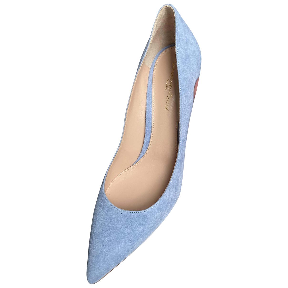 Gianvito Rossi - Escarpins Gianvito pour femme en suede - bleu
