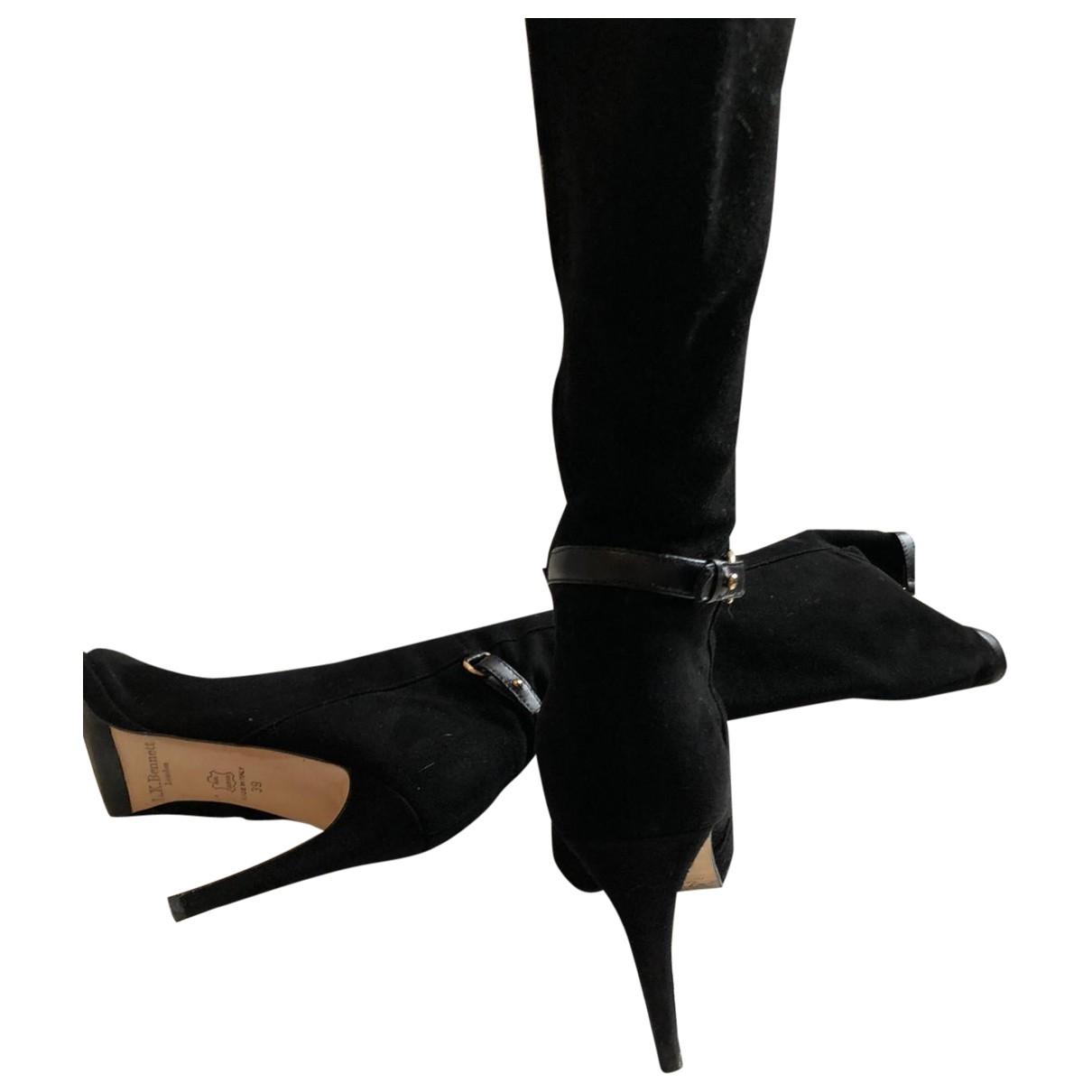 Lk Bennett \N Black Suede Boots for Women 6 UK