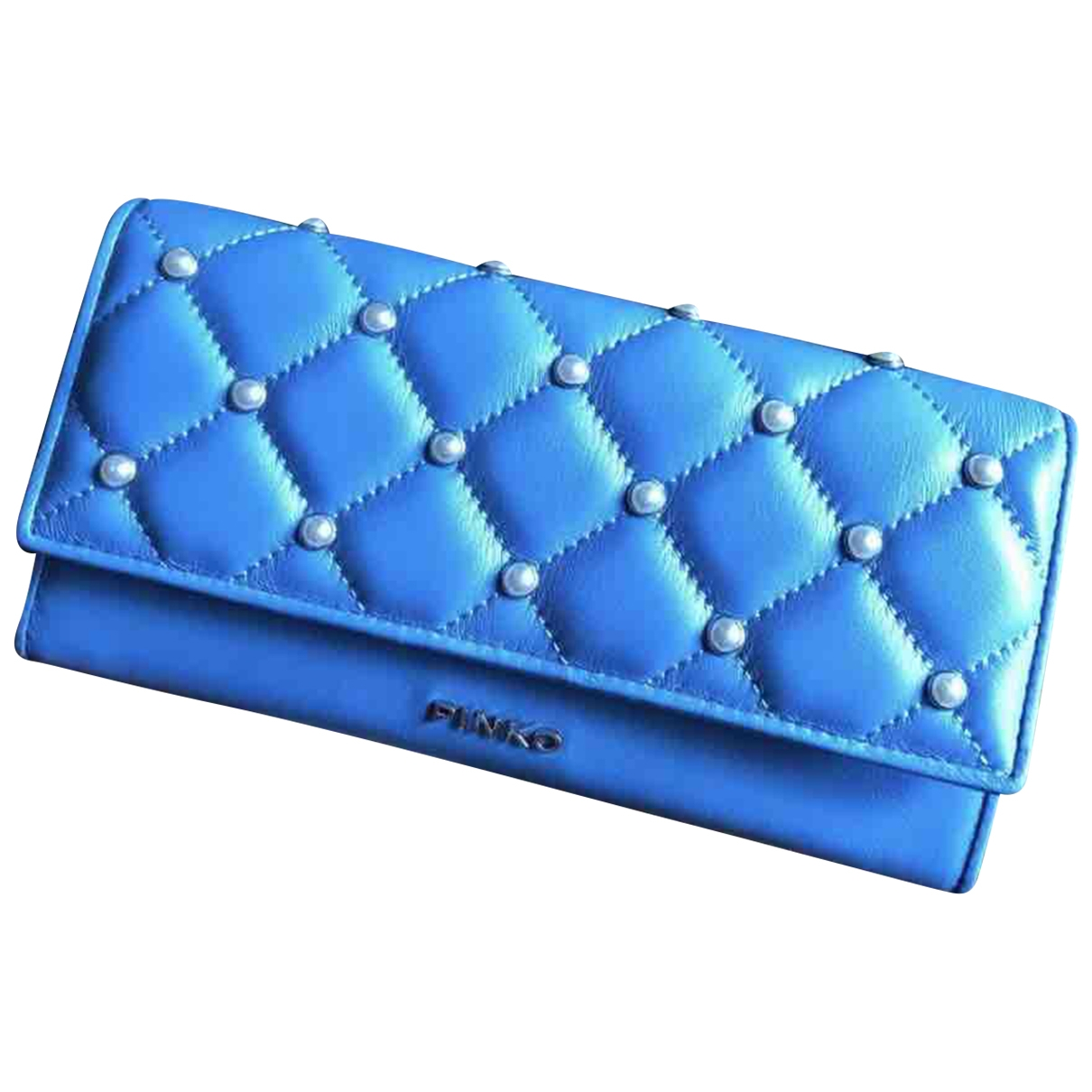 Pinko - Portefeuille   pour femme en cuir - bleu