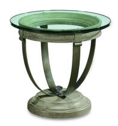 233363-2823 Arch Salvage  Moss Lamp Table in Paint