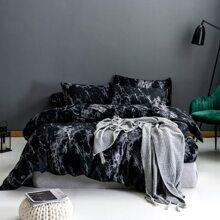 Set de cama con patron de marmol sin relleno