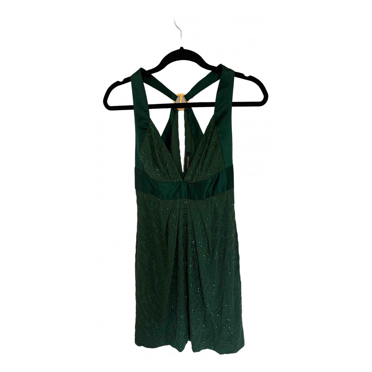 Roberto Cavalli \N Kleid in  Gruen Viskose