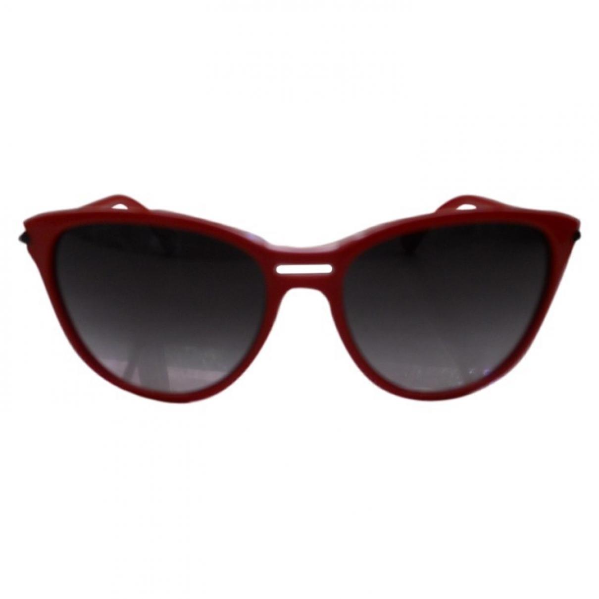Emporio Armani - Lunettes   pour femme - rouge