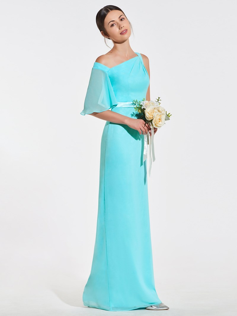 Ericdress Sheath One Shoulder Bridesmaid Dress