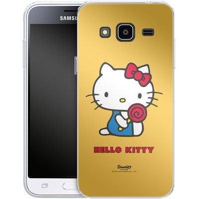 Samsung Galaxy J3 (2016) Silikon Handyhuelle - Hello Kitty Lollipop von Hello Kitty