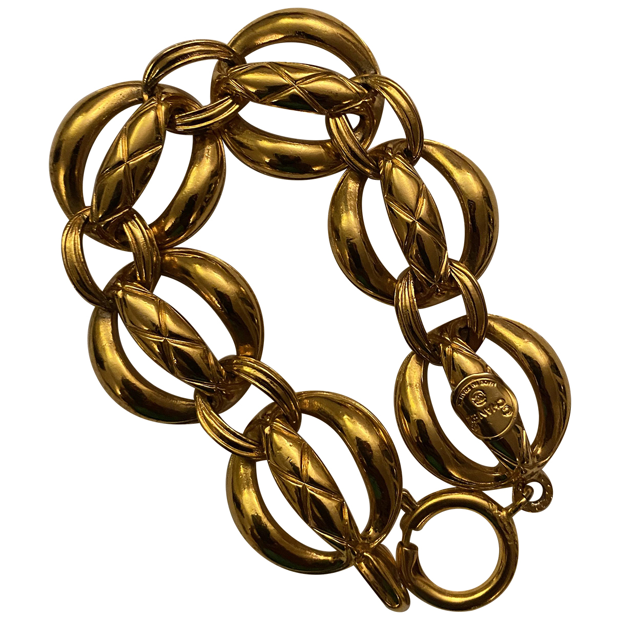 Chanel N Gold Gold plated bracelet for Women N