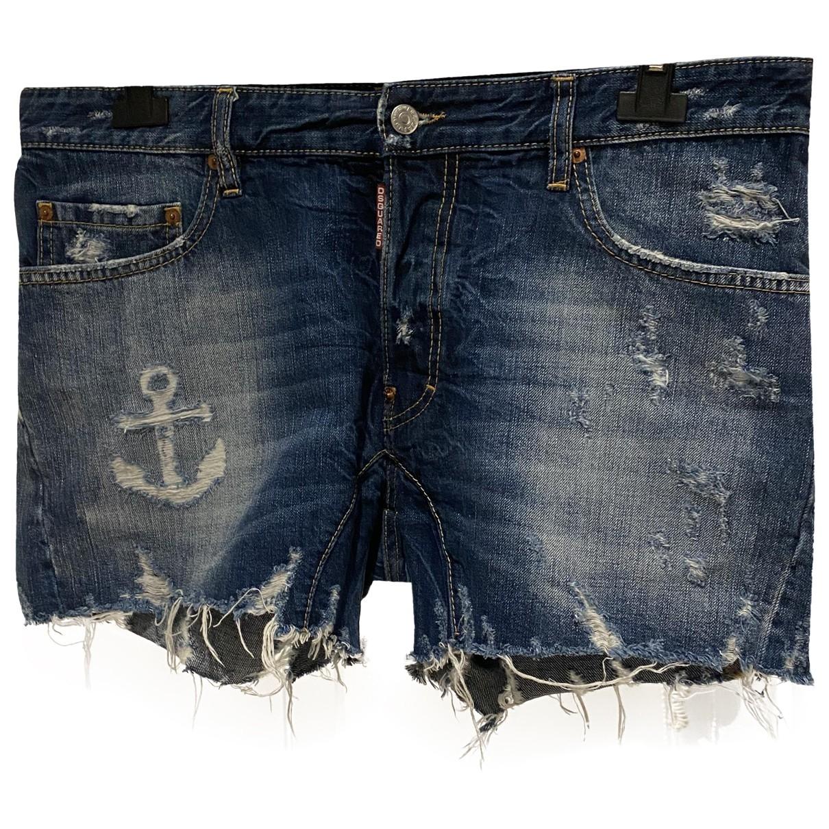 Dsquared2 \N Blue Denim - Jeans Shorts for Men 52 IT